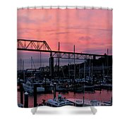 Sunset Port Shower Curtain
