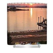 Sunset, Portland, Maine  -07817 Shower Curtain