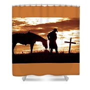 Sunset Prayer Shower Curtain