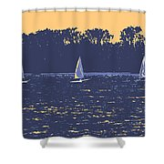 Sunset Race Shower Curtain