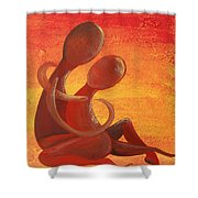 Sunset Rainbow Soul Collection Shower Curtain