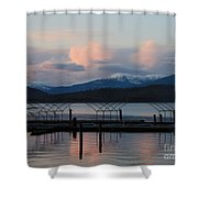 Sunset Reflecting Off Priest Lake Shower Curtain