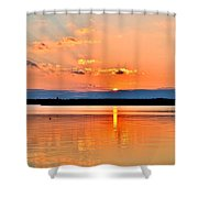 Sunset Reflections 2 Shower Curtain