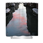 Sunset Reflections In Venice Shower Curtain