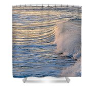 Sunset Ribbons Shower Curtain