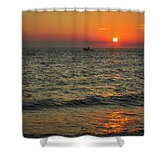 Sunset Ride Cape May Point Nj Shower Curtain