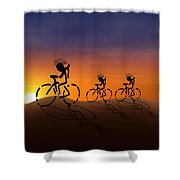 Sunset Riders Shower Curtain