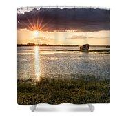 Sunset River Shower Curtain