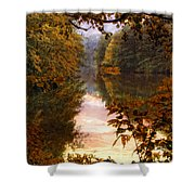 Sunset River View Shower Curtain