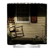 Sunset Rocker Shower Curtain