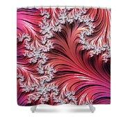 Sunset Romance Abstract Shower Curtain