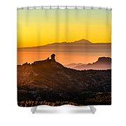 Sunset Roque Nublo Shower Curtain