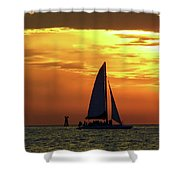 Sunset Sail Away Shower Curtain