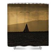 Sunset Sail Horizontal Shower Curtain