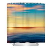 Sunset Seascape Island Shower Curtain