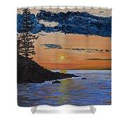 Sunset Series 1 Isle Royale Lake Superior Shower Curtain