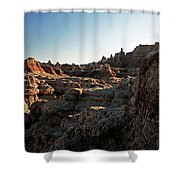 Sunset Shadows In The Badlands Shower Curtain
