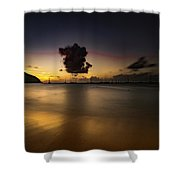 Sunset Shadows Shower Curtain