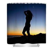 Sunset Silhouette #1 Shower Curtain
