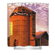 Sunset Silo Shower Curtain