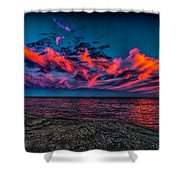 Sunset Sky At East Point Shower Curtain