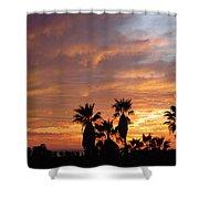 Sunset Sky Over Baja Shower Curtain