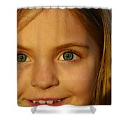 Sunset Smile Shower Curtain