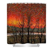Sunset Soliloquy Shower Curtain
