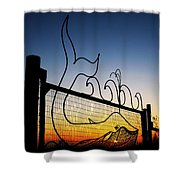 Sunset Spouting Whale Shower Curtain