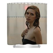 Sunset Stare Shower Curtain