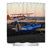 Sunset Stearmans Shower Curtain