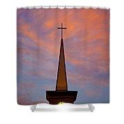 Sunset Steeple Shower Curtain
