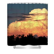 Sunset Storm Clouds Over The Marsh Shower Curtain