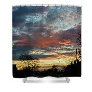 Sunset Street Shower Curtain