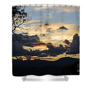 Sunset Study 4 Shower Curtain