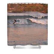 Sunset Surfing Shower Curtain