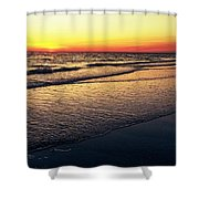 Sunset Time On Sunset Beach Shower Curtain