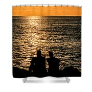 Sunset Together In Key West Shower Curtain