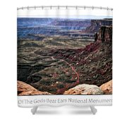 Sunset Tour Valley Of The Gods Utah Text 04 Shower Curtain