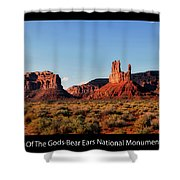 Sunset Tour Valley Of The Gods Utah Text 09 Black Shower Curtain