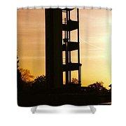 Sunset Tower Shower Curtain