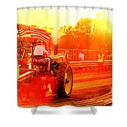 Sunset Tractor Pull Shower Curtain