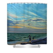 Sunset Treasure Hunt Shower Curtain