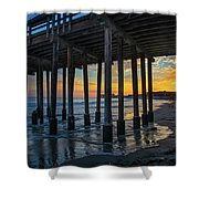 Sunset Under The Ventura Pier Shower Curtain