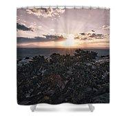 Sunset Valley Of The Gods Utah 01 B Shower Curtain