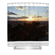 Sunset Valley Of The Gods Utah 01 Text Shower Curtain