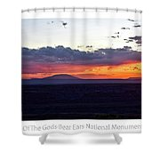 Sunset Valley Of The Gods Utah 05 Text Shower Curtain
