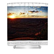 Sunset Valley Of The Gods Utah 11 Text Shower Curtain