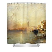 Sunset Venice Shower Curtain