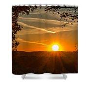 Sunset Vienna West Virginia Shower Curtain